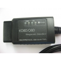 OBDII V1.5 ELM327 kabelis diagnostikai FT232RL USB