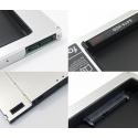 12.7mm SATA - SATA adapteris SSD diskui vietoje CDROM